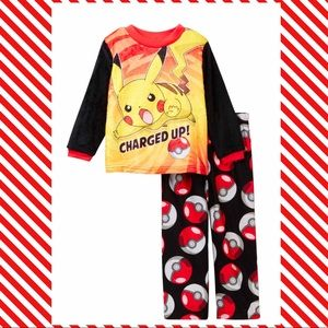 (H) POKÉMON▪️Red Yellow Pajama Set 6